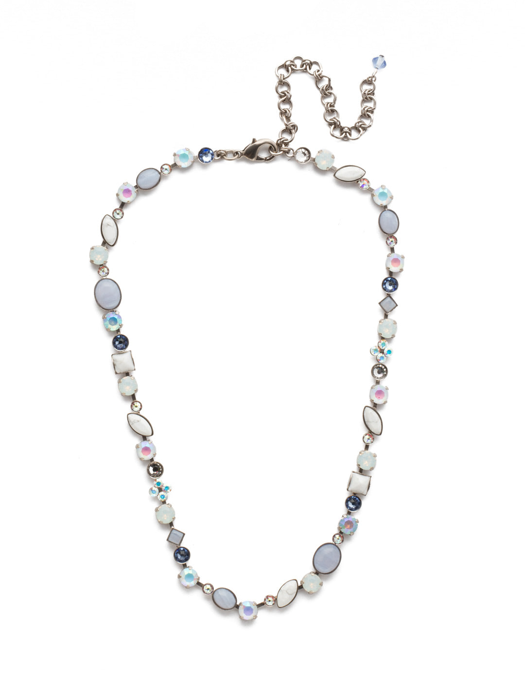 Classic Tee-Shirt Tennis Necklace - NAQ3ASGLC