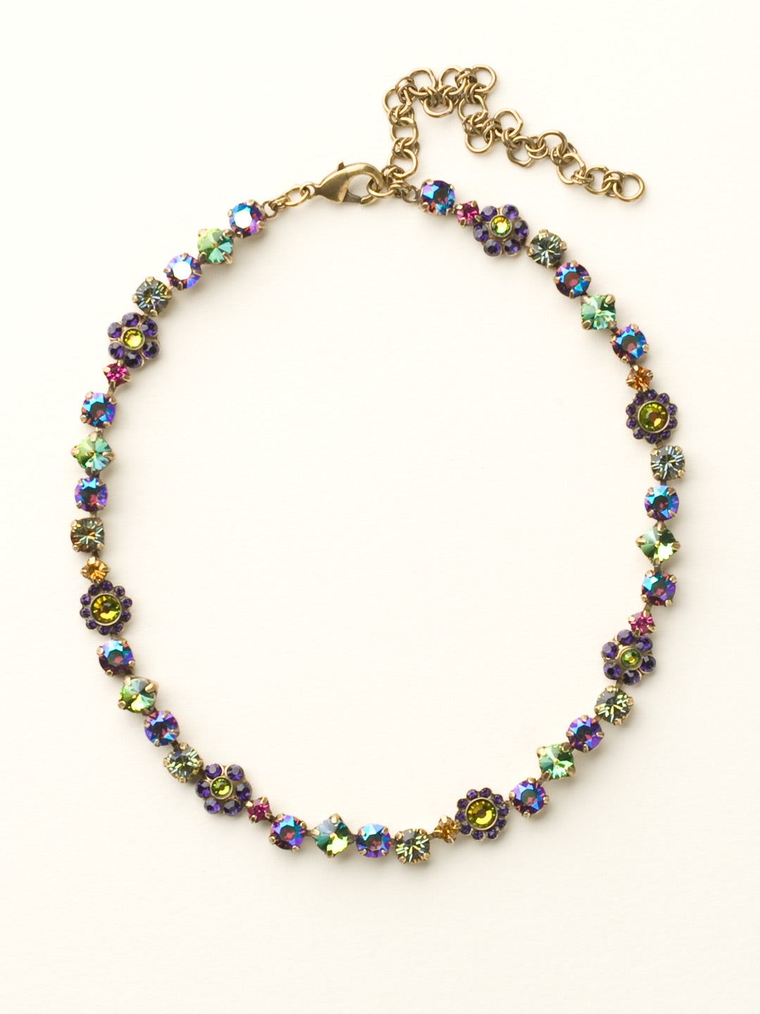 Classic Floral Tennis Necklace - NBE2AGVO