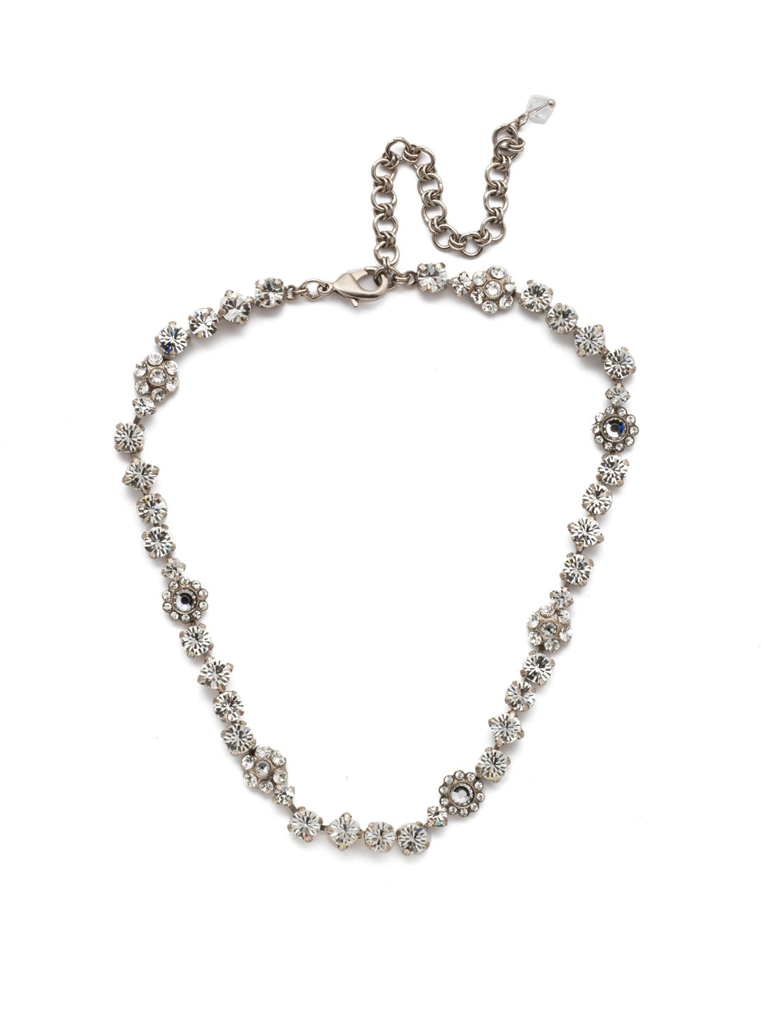 Classic Floral Tennis Necklace - NBE2ASCRY