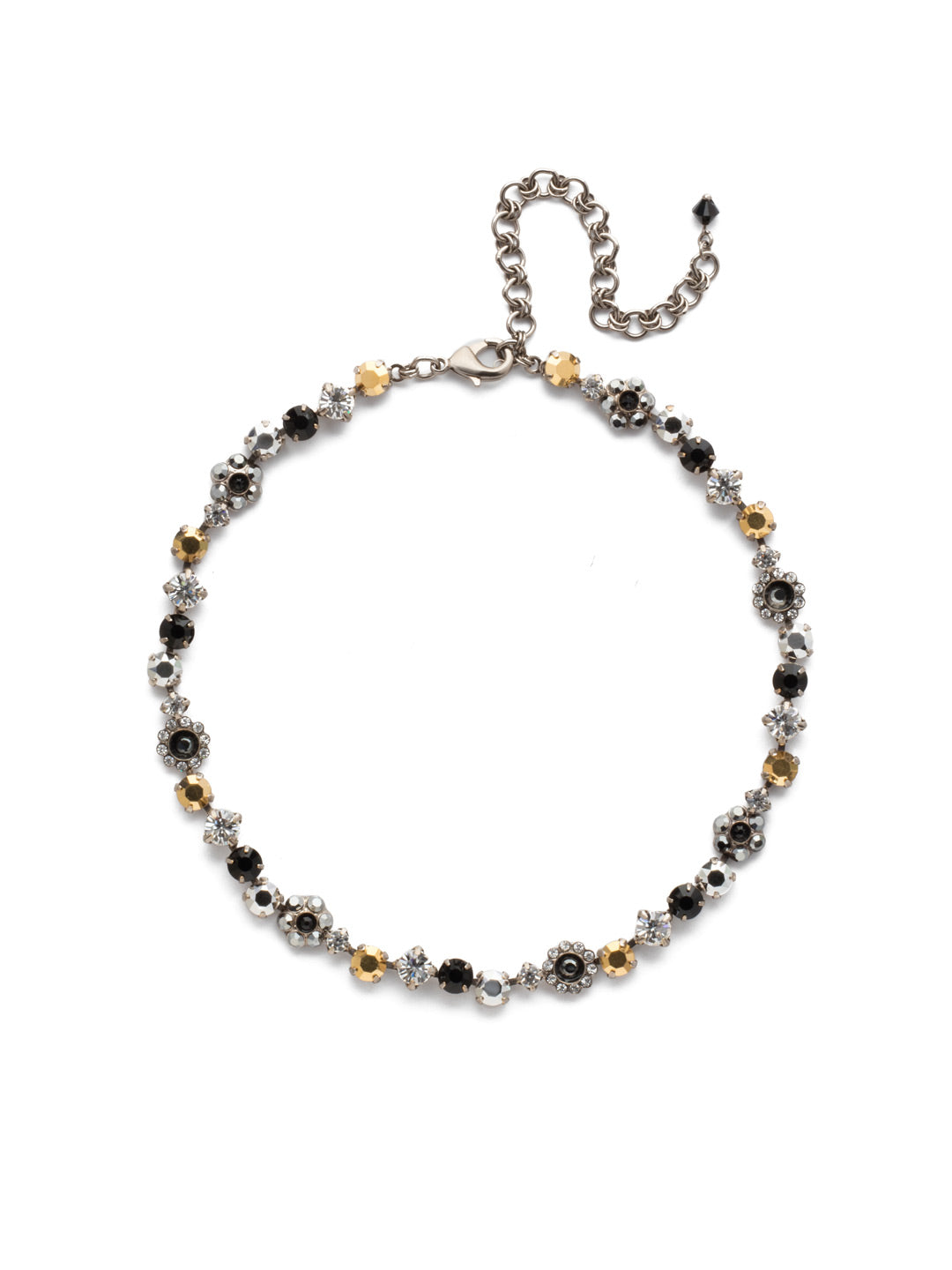Classic Floral Tennis Necklace - NBE2ASHMT