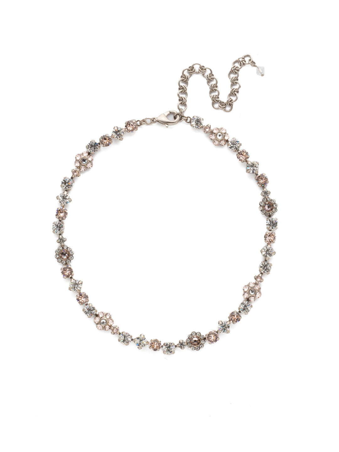 Classic Floral Tennis Necklace - NBE2ASPLS