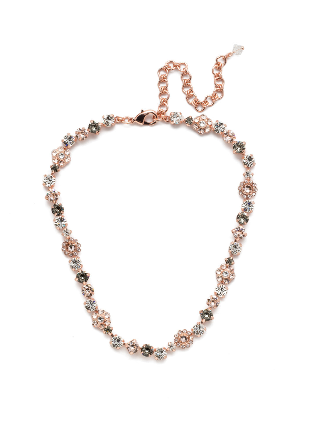 Classic Floral Tennis Necklace - NBE2RGSNB
