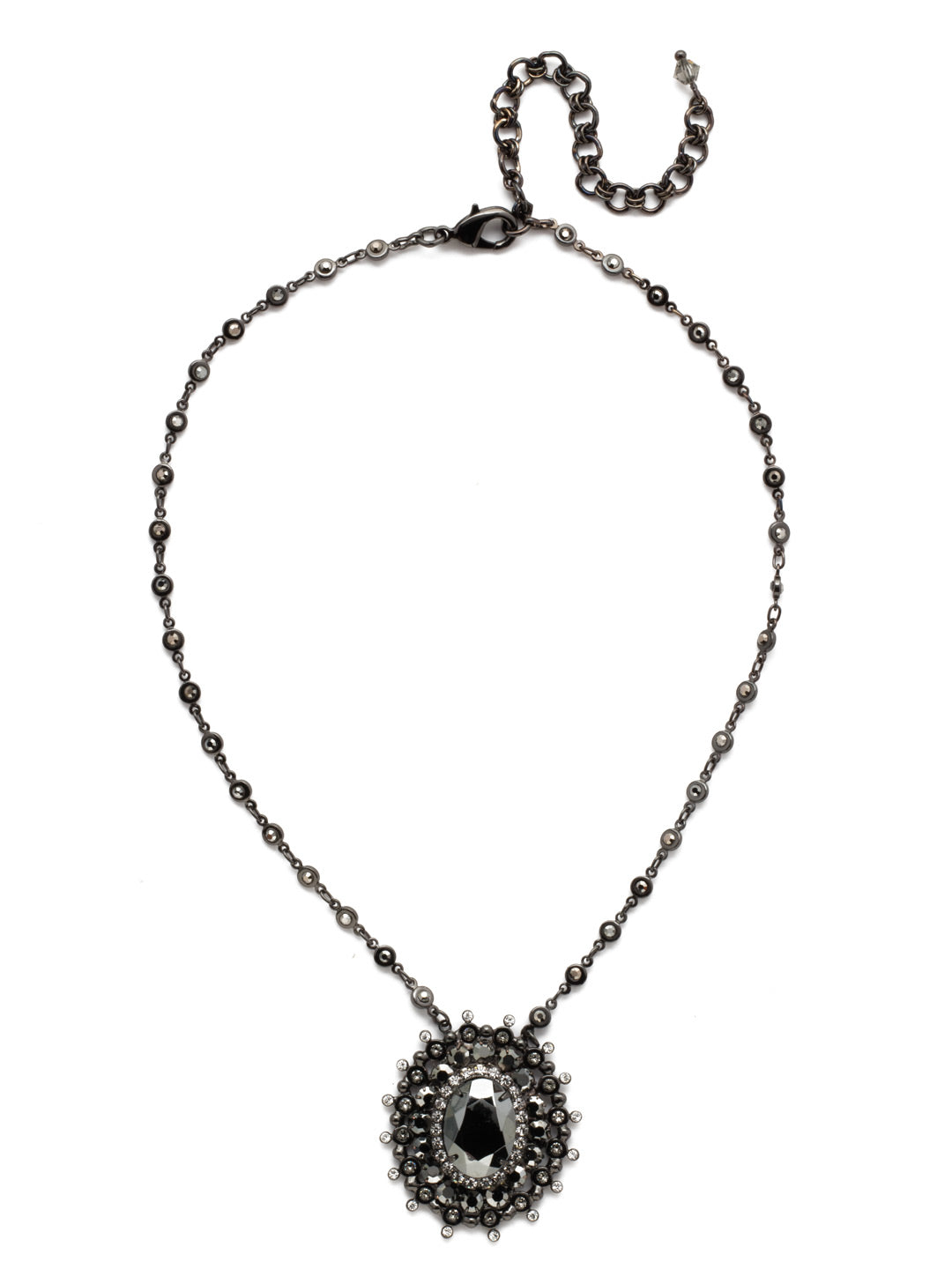 Intricate Oval Pendant Necklace - NBP117GMMMO