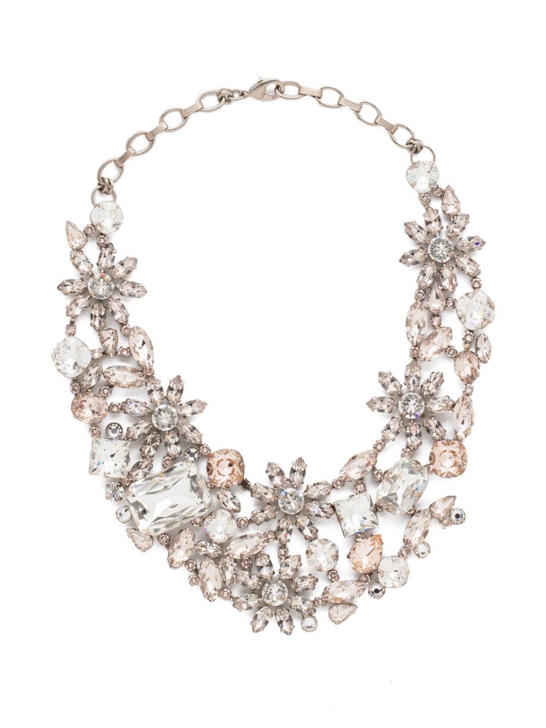 Floral Collar Statement Necklace - NBT56ASPLS