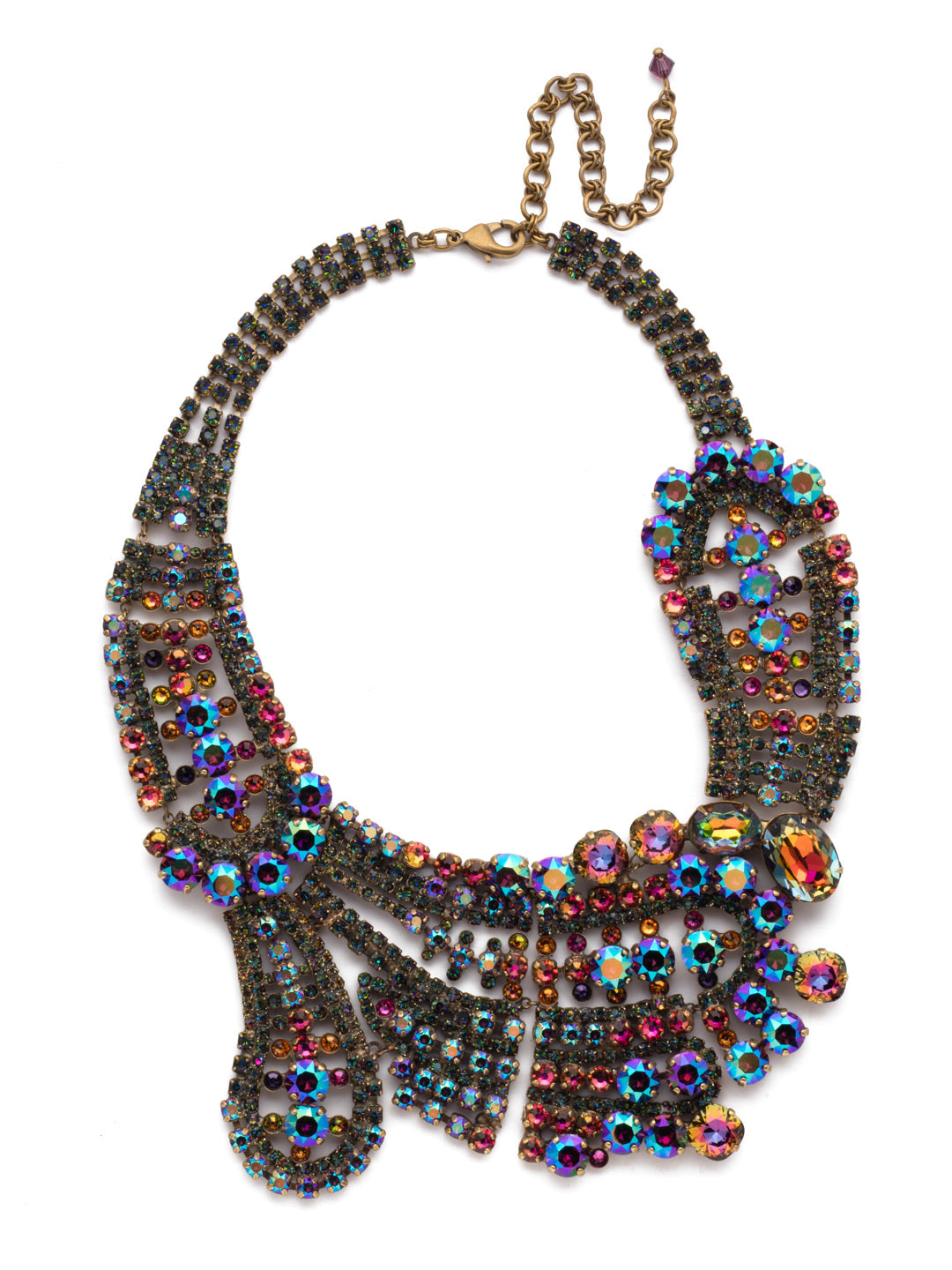 Crystal Paisley Statement Necklace - NBZ22AGVO