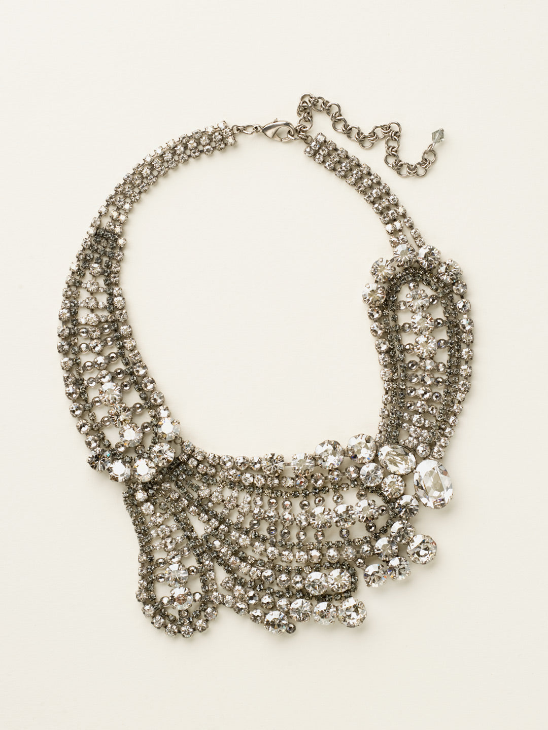 Crystal Paisley Statement Necklace - NBZ22ASCRO