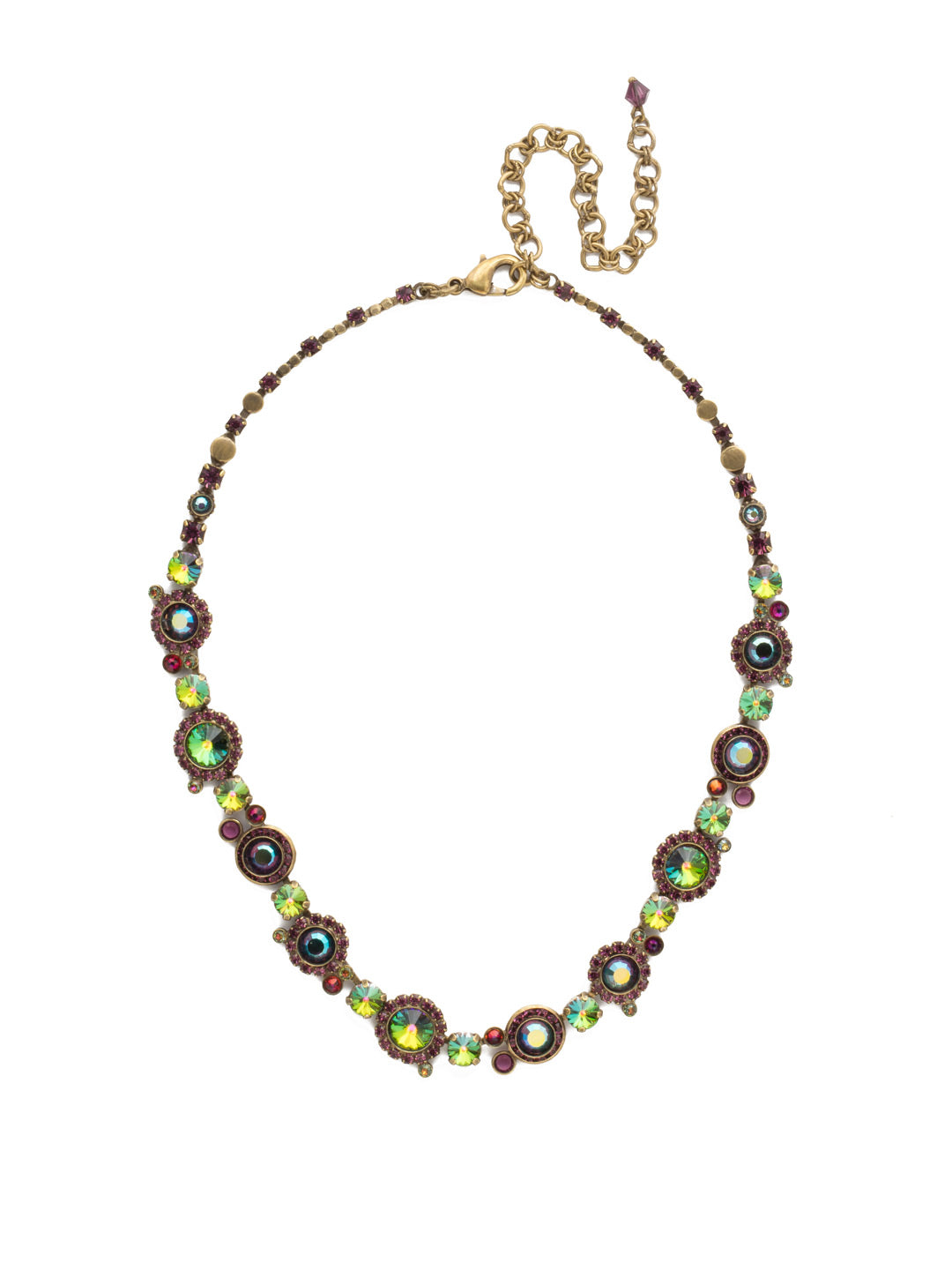 Break Out The Bubbly Line Necklace - NCE12AGVO
