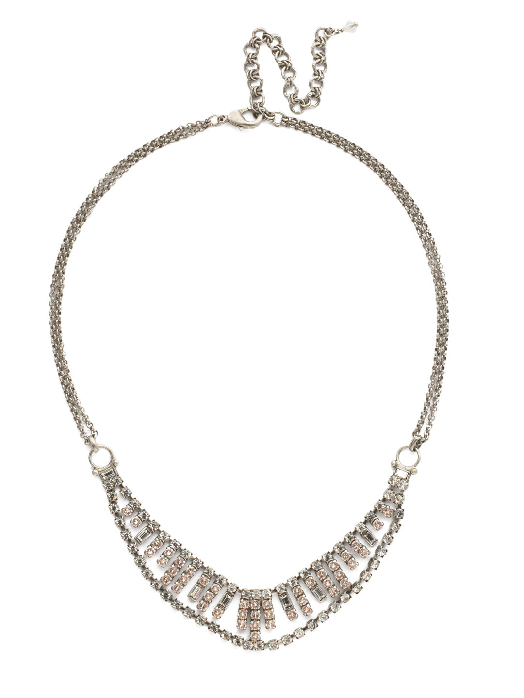 Sparkling Crystal Bib Necklace - NCF4ASSNB