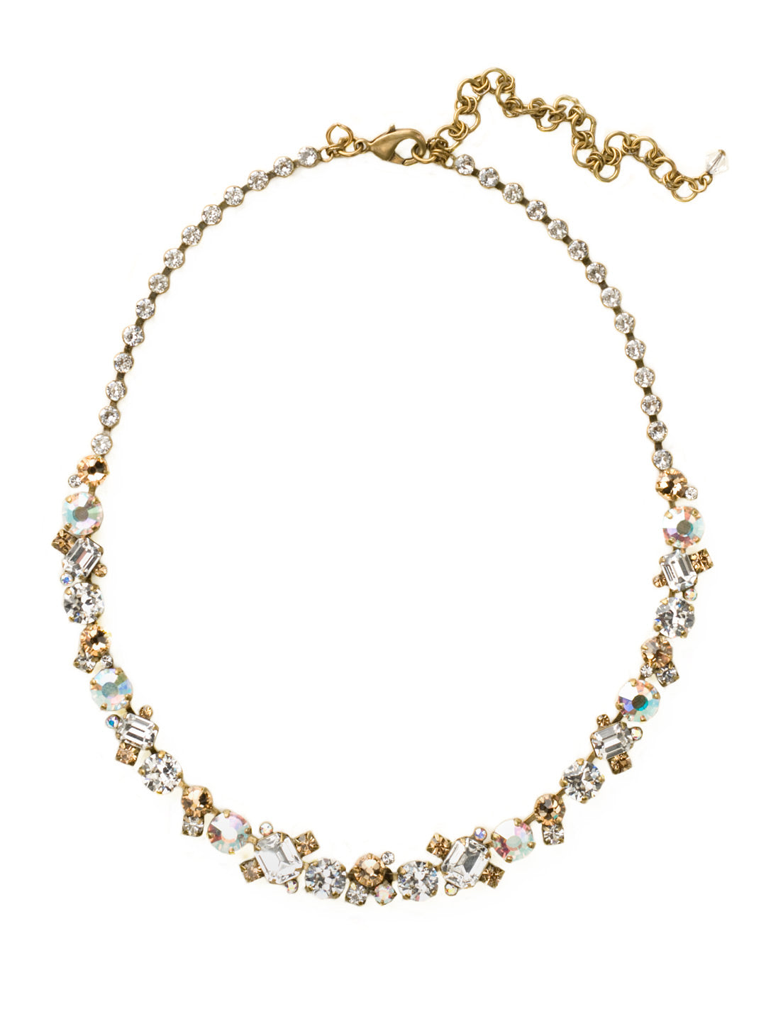 Glittering Multi-Cut Crystal Necklace - NCF6AGNT