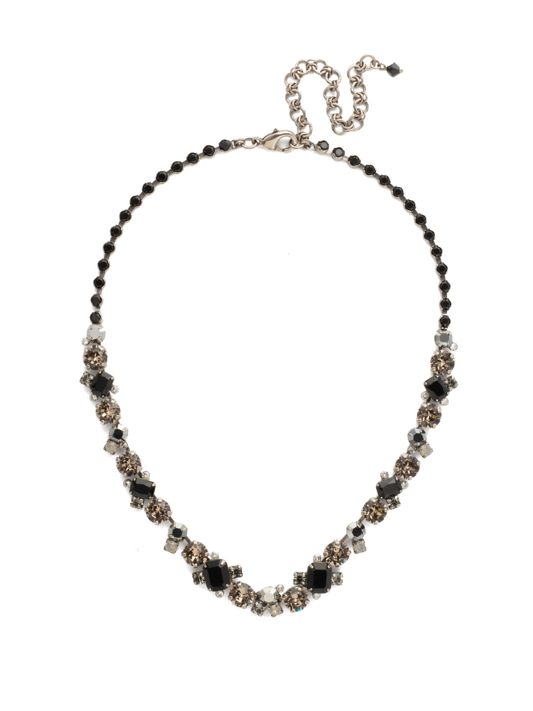 Glittering Multi-Cut Crystal Necklace - NCF6ASBON