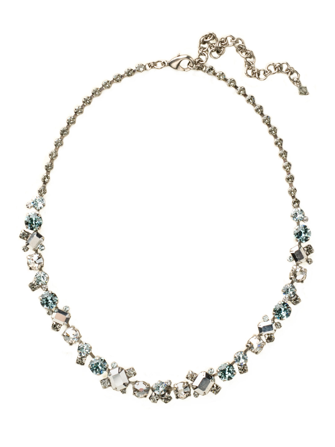 Glittering Multi-Cut Crystal Necklace - NCF6ASCRO