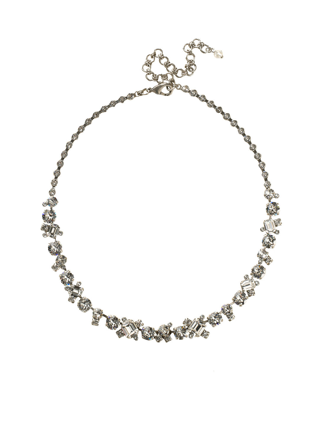 Glittering Multi-Cut Crystal Necklace - NCF6ASCRY