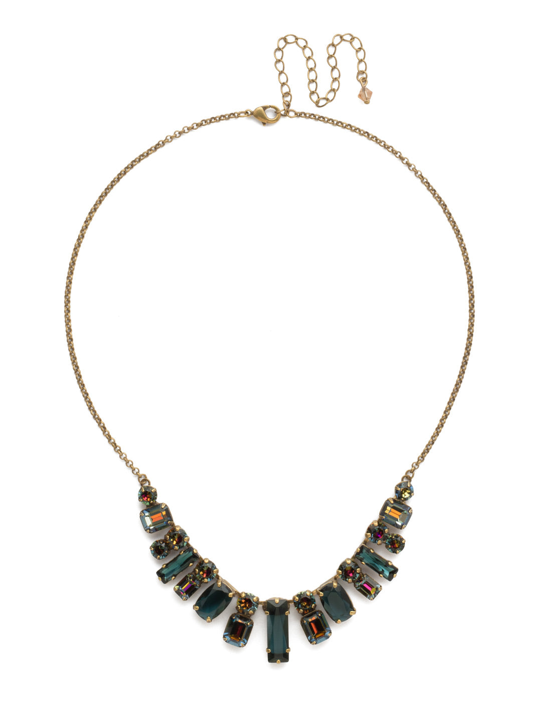 Regal Rectangles Statement Necklace - NCG19AGVO