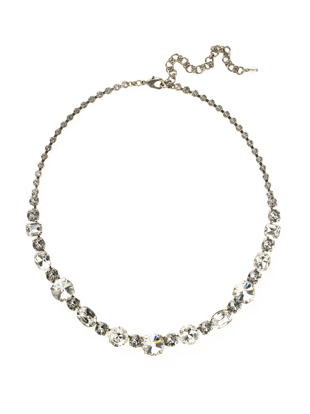 Graduated Classic Tennis Necklace - NCP38ASCRY