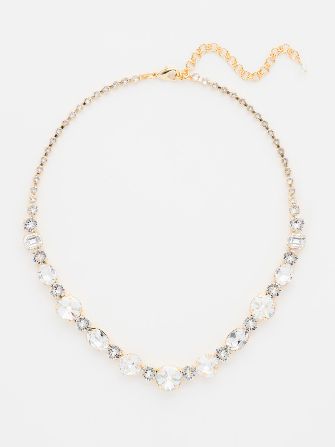 Graduated Classic Tennis Necklace - NCP38BGCRY