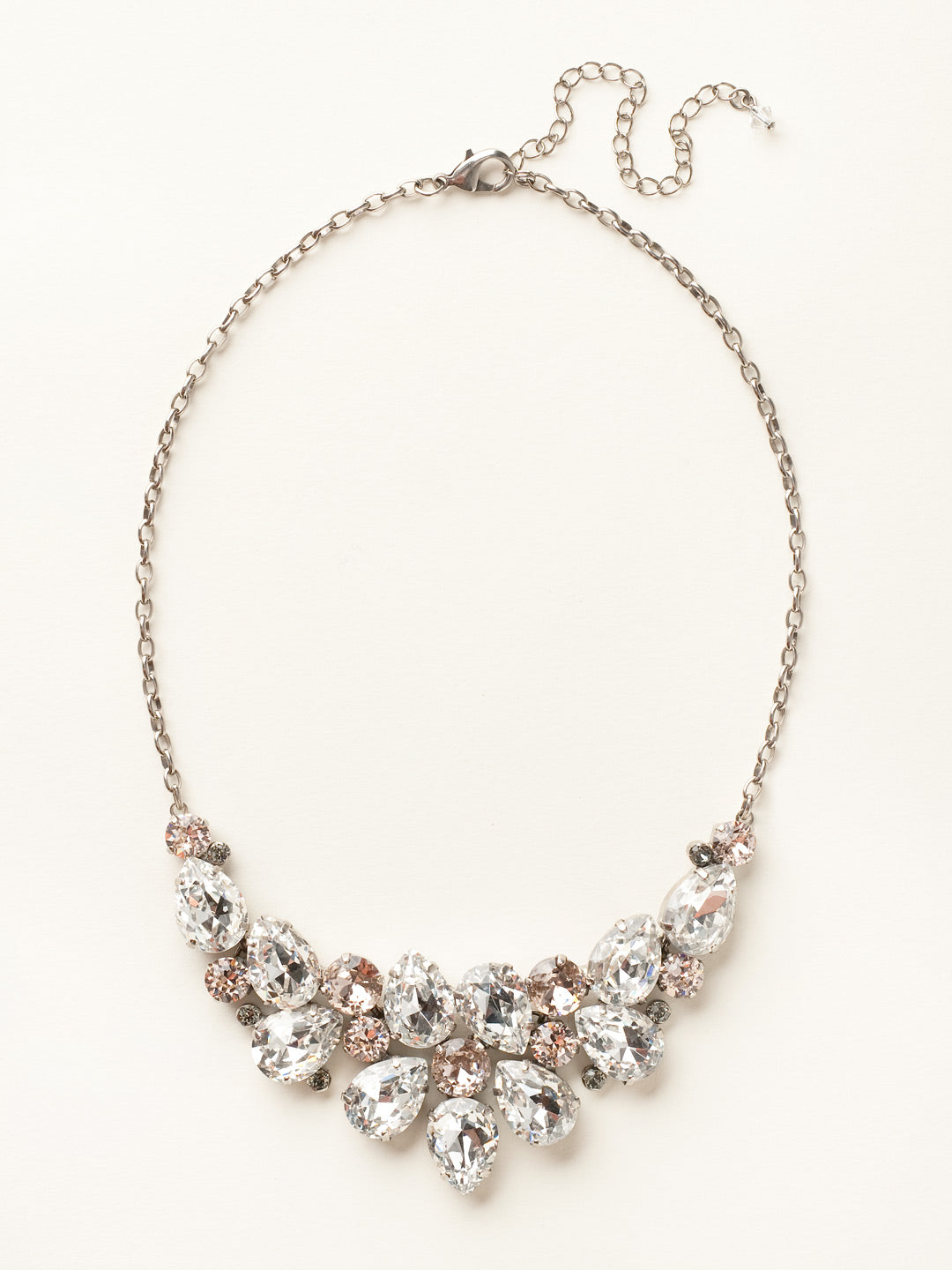 Dare To Pear Crystal Bib Necklace - NCP3ASSNB