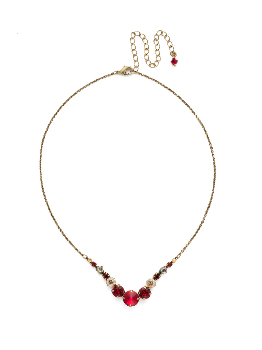 Delicate Round Tennis Necklace - NCQ14AGGGA