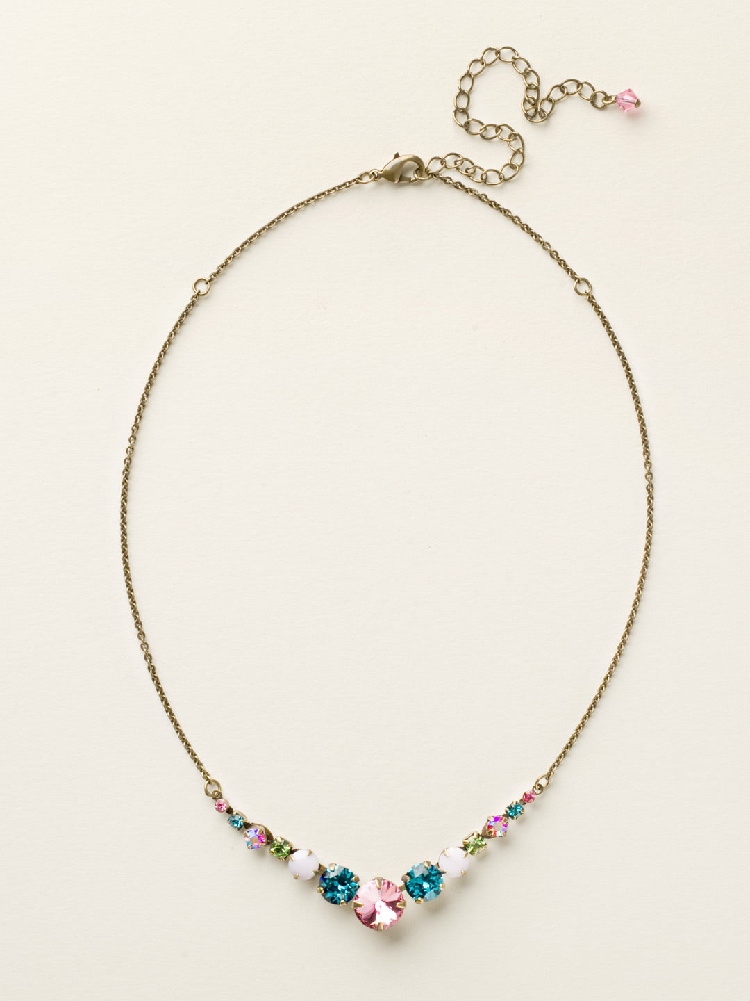 Delicate Round Tennis Necklace - NCQ14AGHB