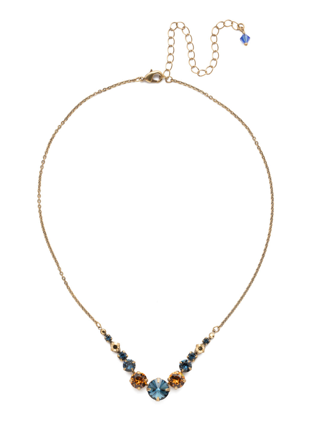 Delicate Round Tennis Necklace - NCQ14AGLNA