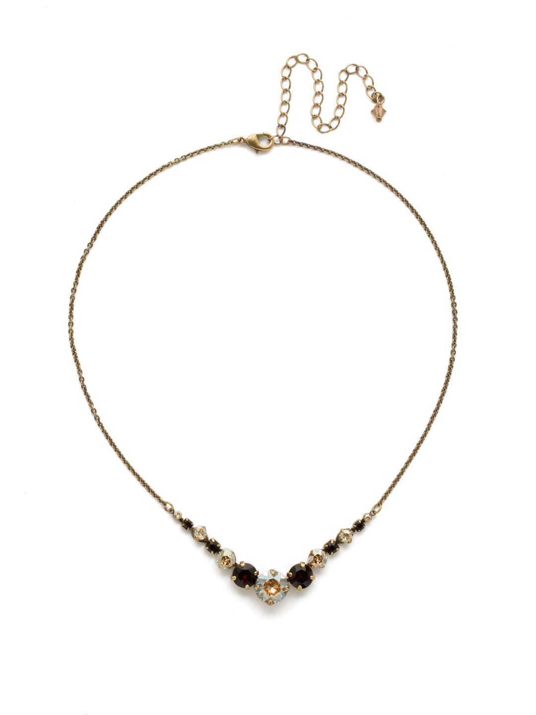 Delicate Round Tennis Necklace - NCQ14AGMMA