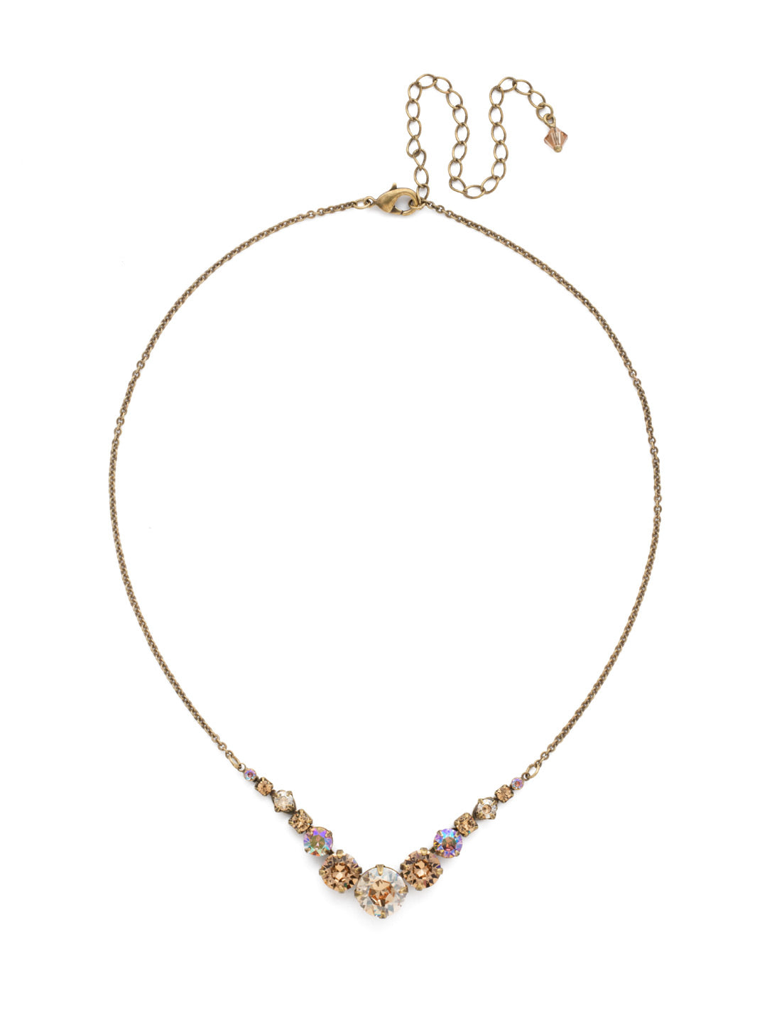 Delicate Round Tennis Necklace - NCQ14AGNT