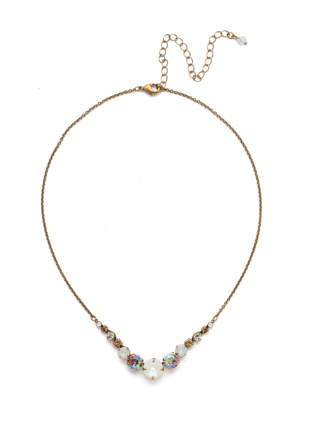 Delicate Round Tennis Necklace - NCQ14AGROB