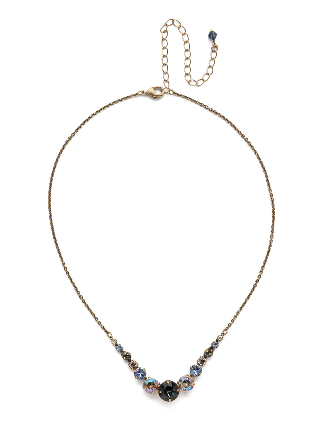 Delicate Round Tennis Necklace - NCQ14AGSDE