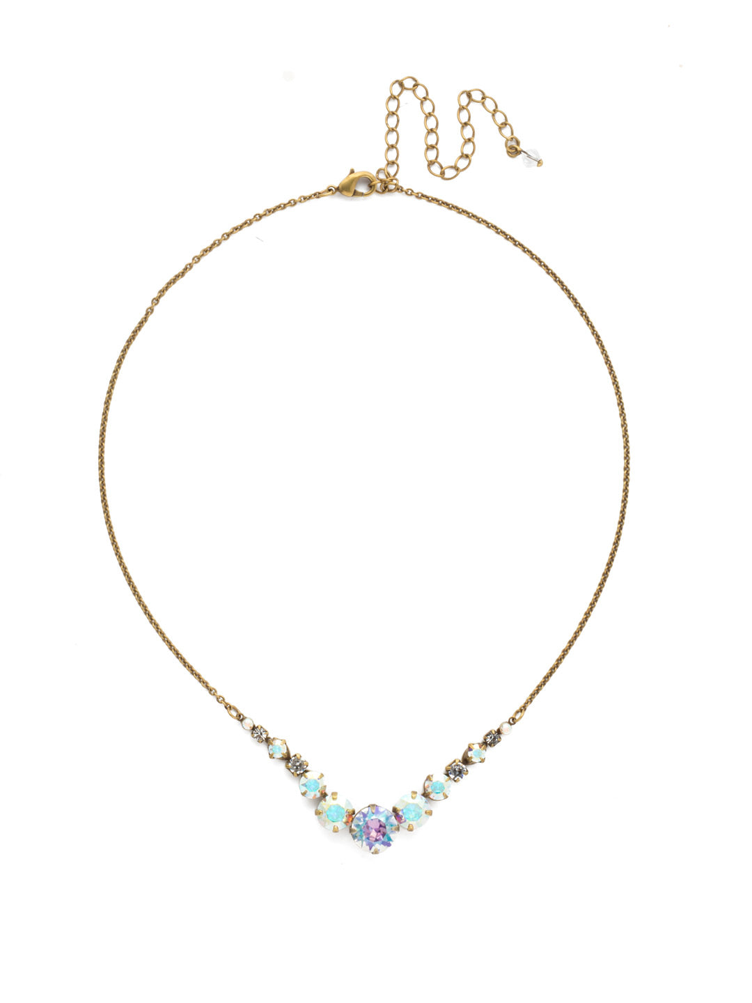 Delicate Round Tennis Necklace - NCQ14AGSNF
