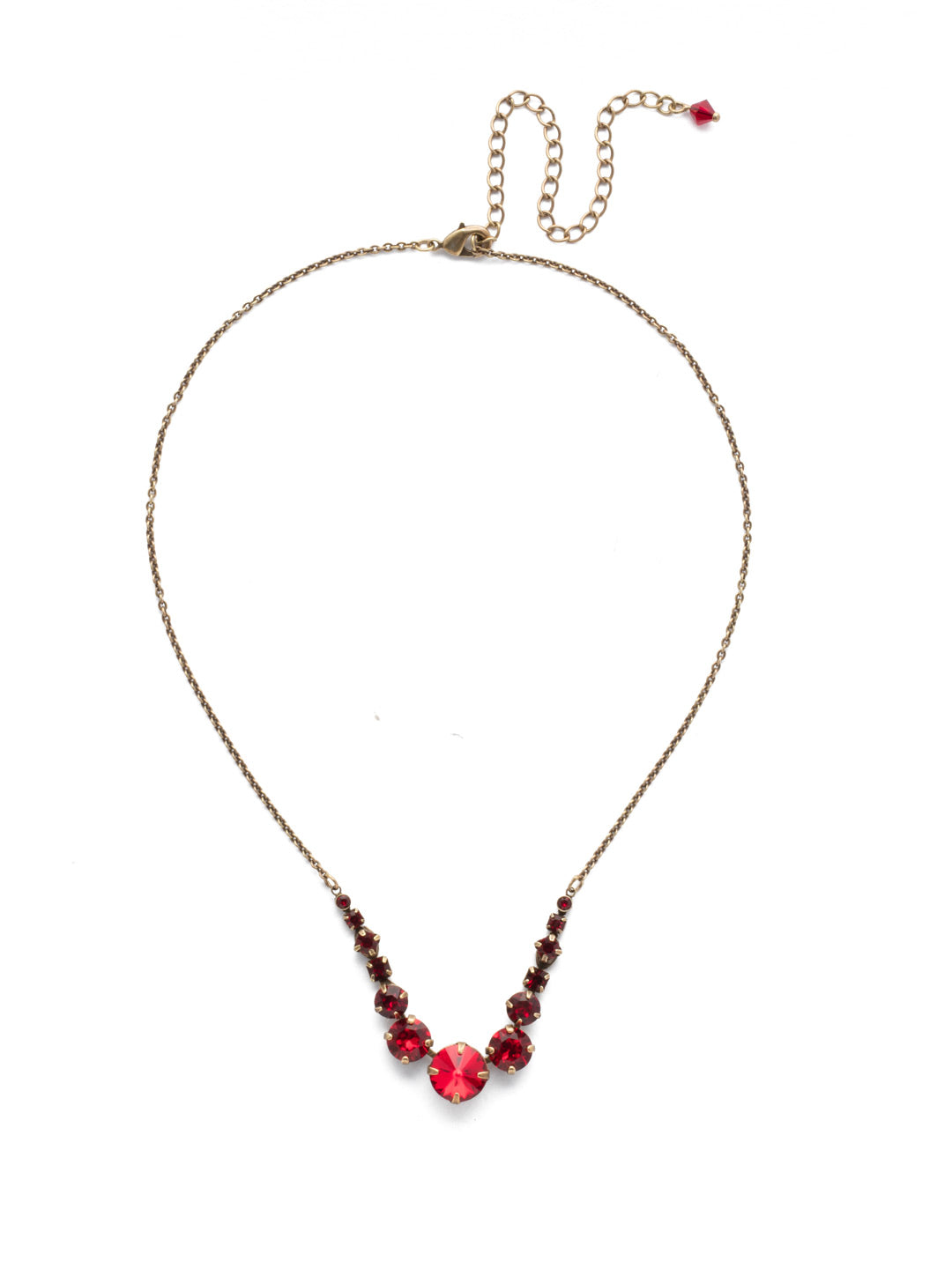 Delicate Round Tennis Necklace - NCQ14AGSNR