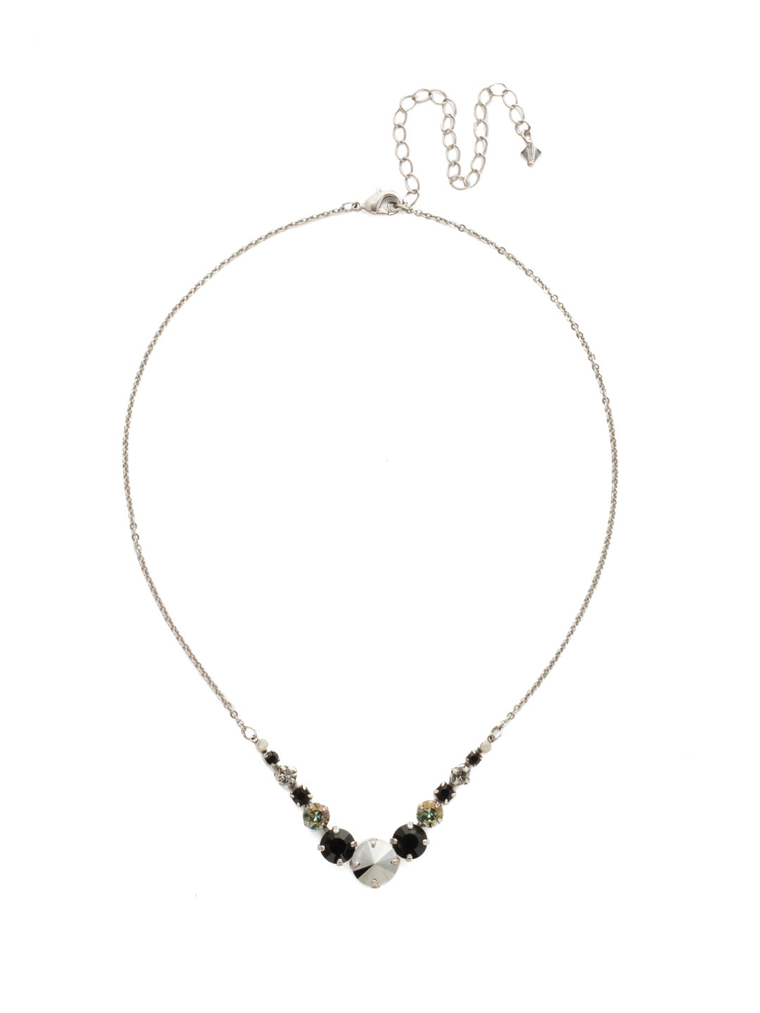 Delicate Round Tennis Necklace - NCQ14ASBON