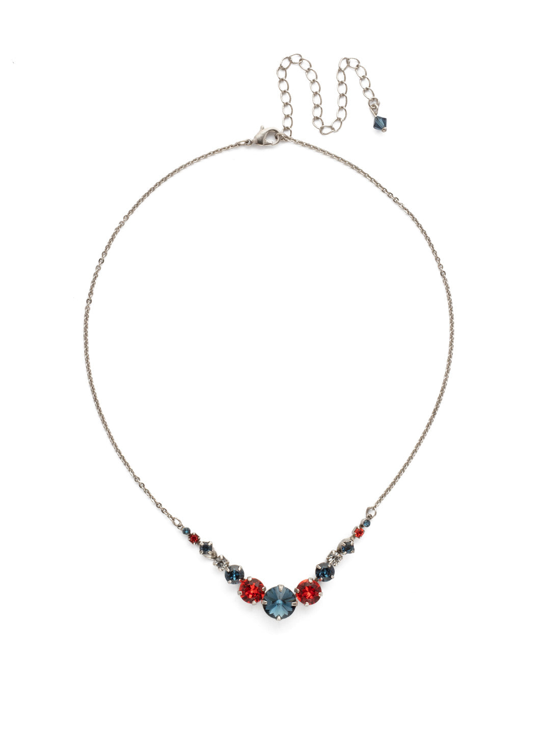 Delicate Round Tennis Necklace - NCQ14ASBTB