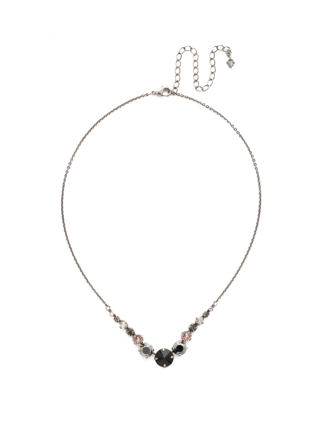Delicate Round Tennis Necklace - NCQ14ASCNO