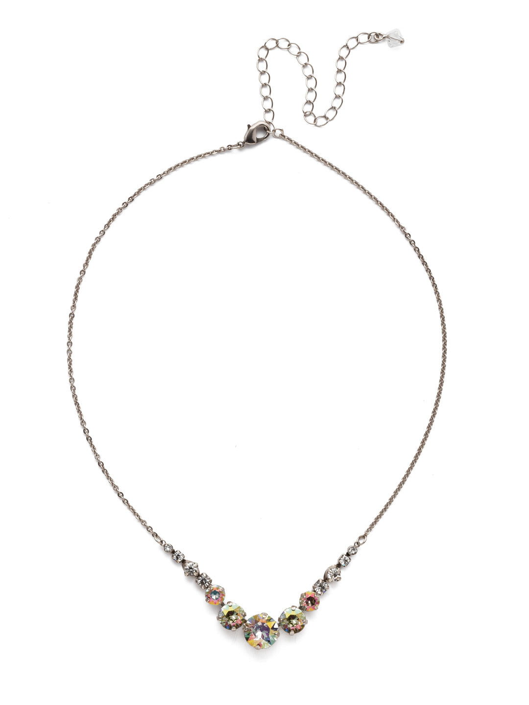 Delicate Round Tennis Necklace - NCQ14ASCRE