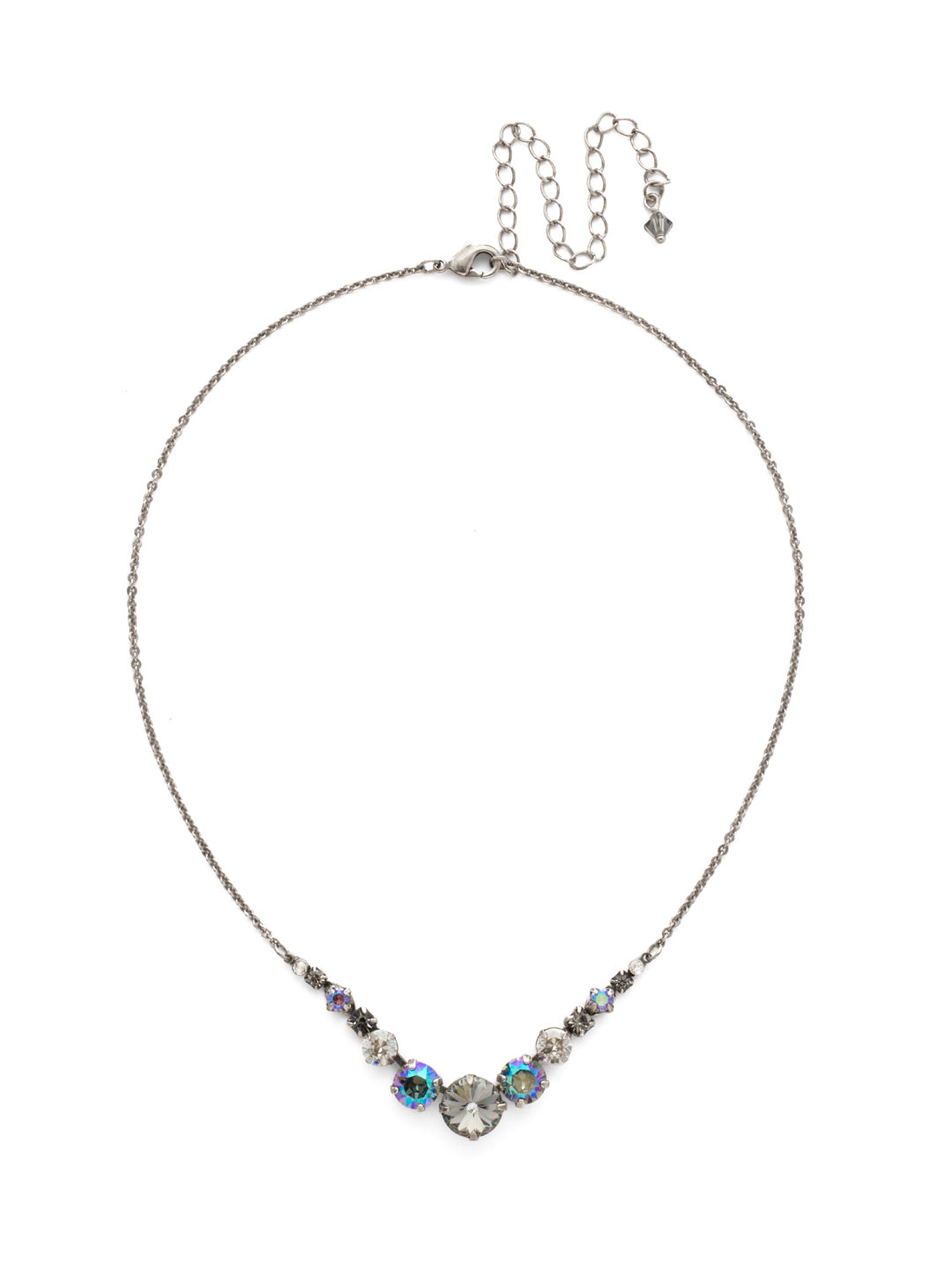 Delicate Round Tennis Necklace - NCQ14ASCRO
