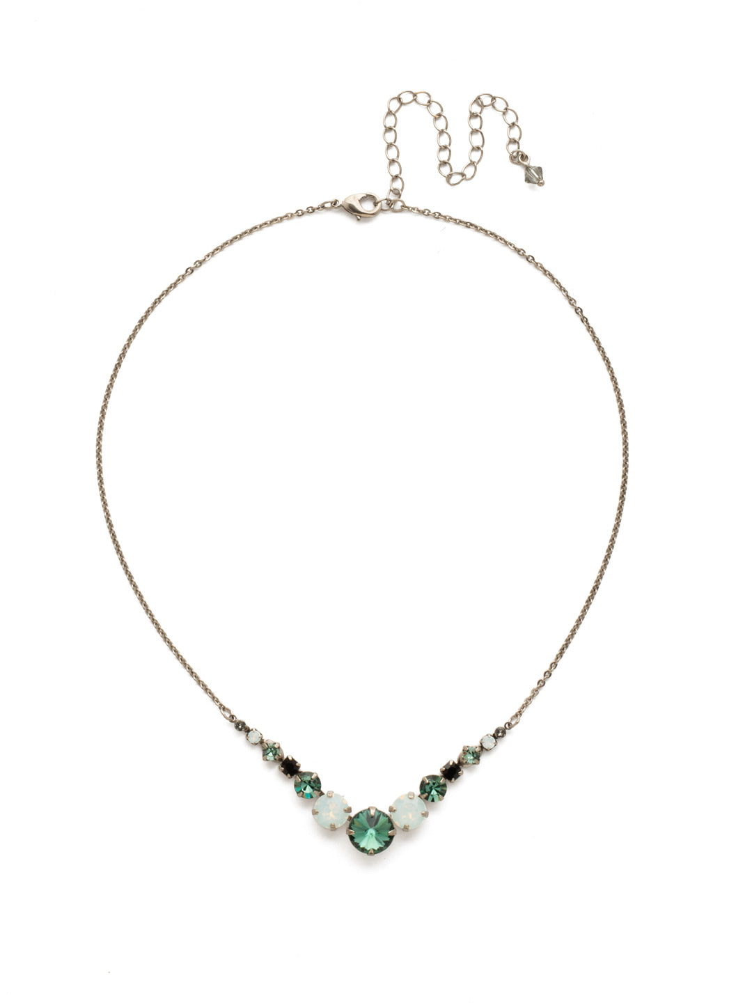 Delicate Round Tennis Necklace - NCQ14ASGDG
