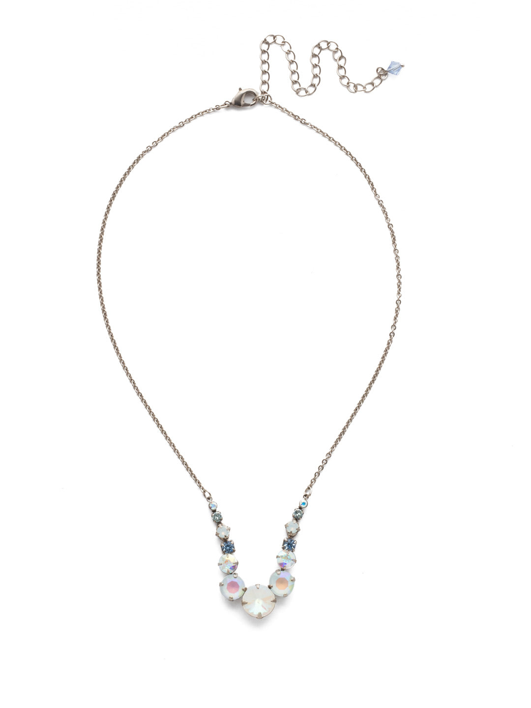 Delicate Round Tennis Necklace - NCQ14ASGLC
