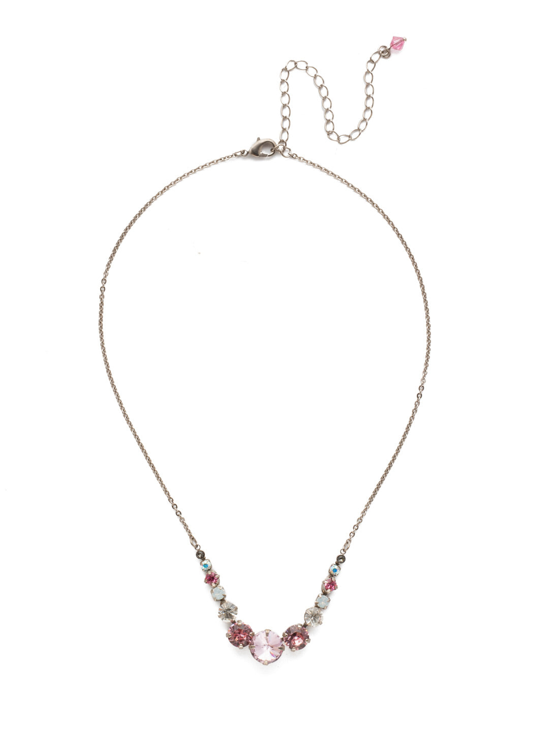 Delicate Round Tennis Necklace - NCQ14ASMP