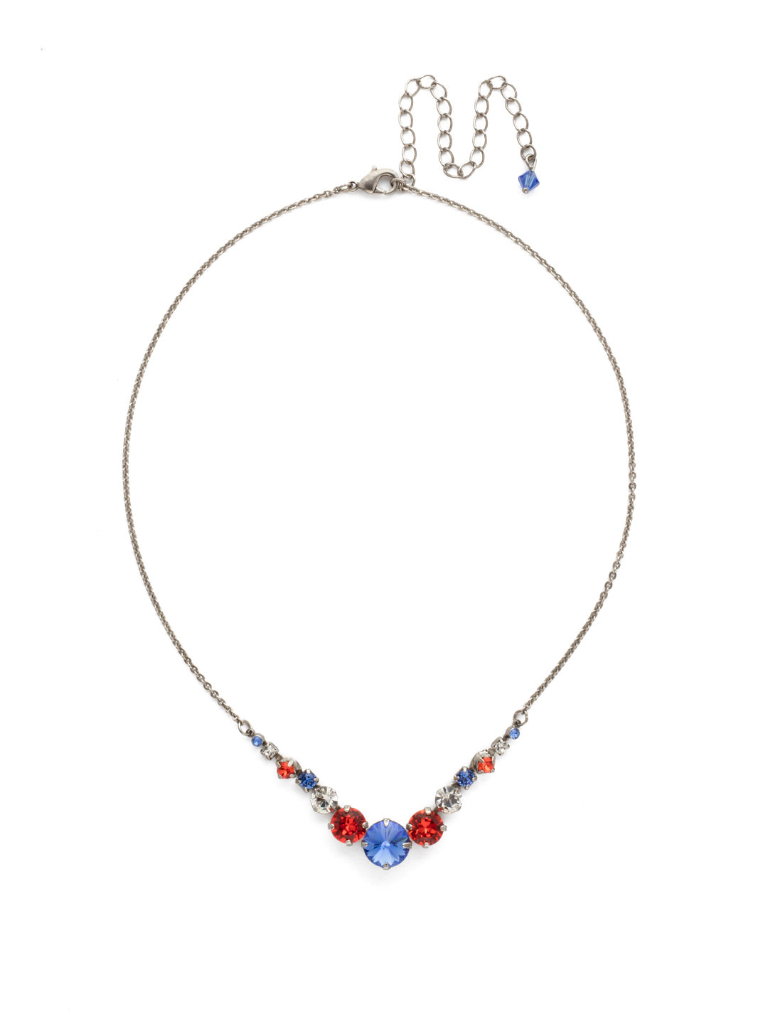 Delicate Round Tennis Necklace - NCQ14ASOCR