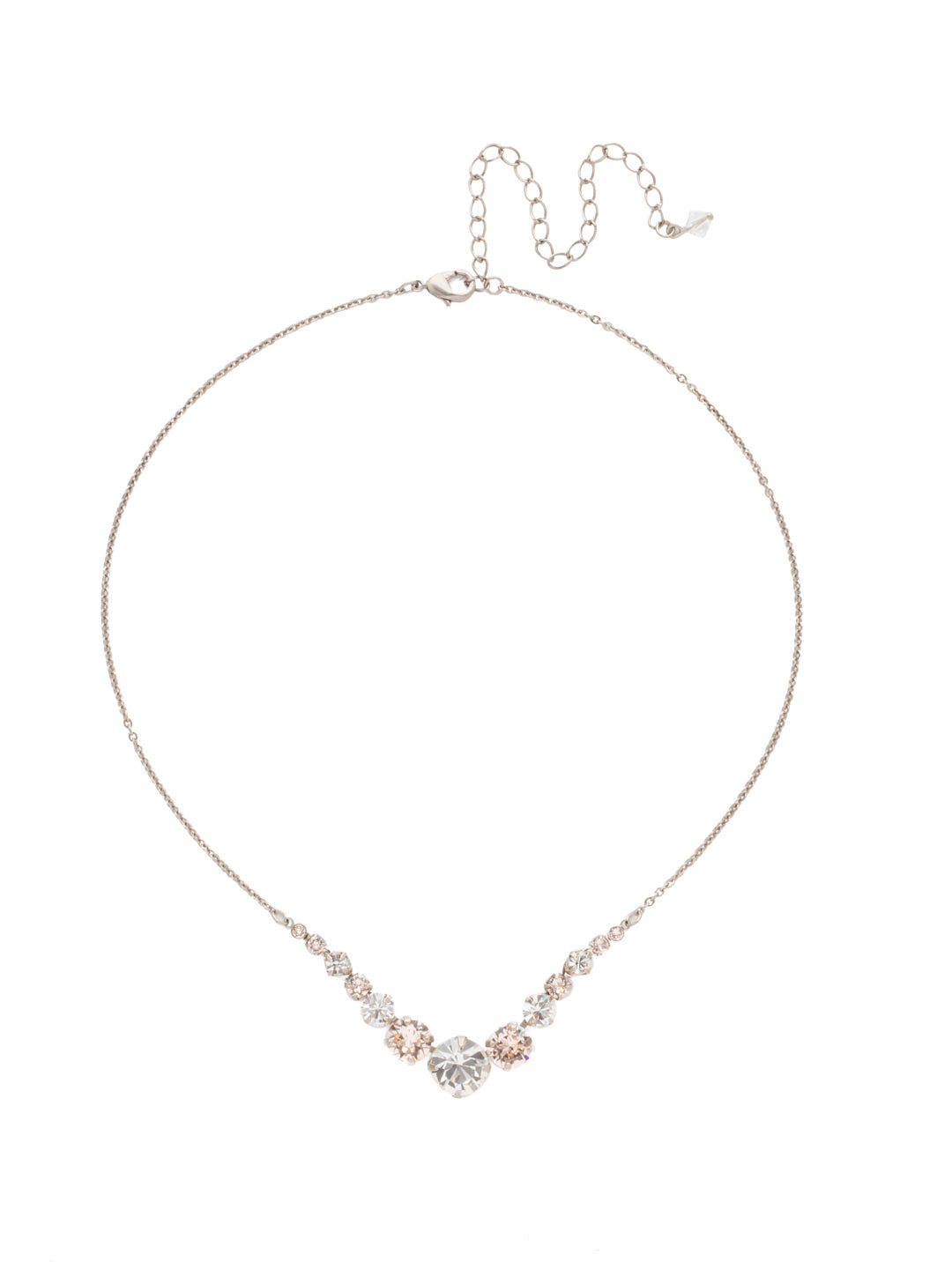 Delicate Round Tennis Necklace - NCQ14ASPLS