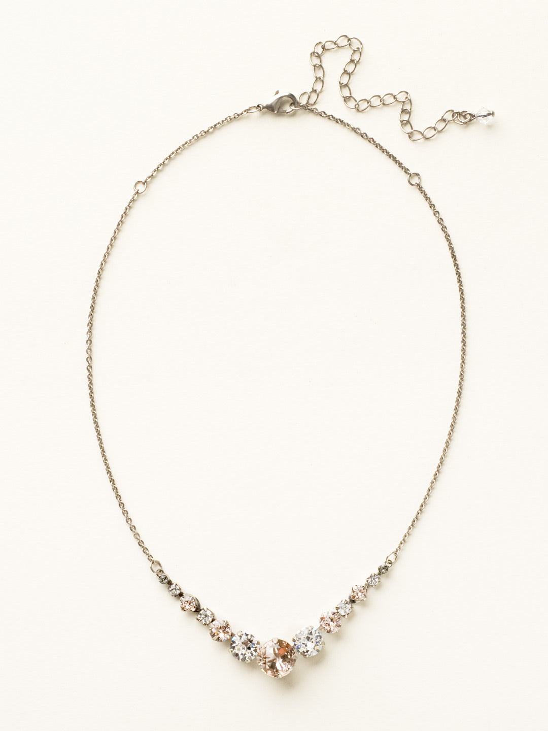 Delicate Round Tennis Necklace - NCQ14ASSNB