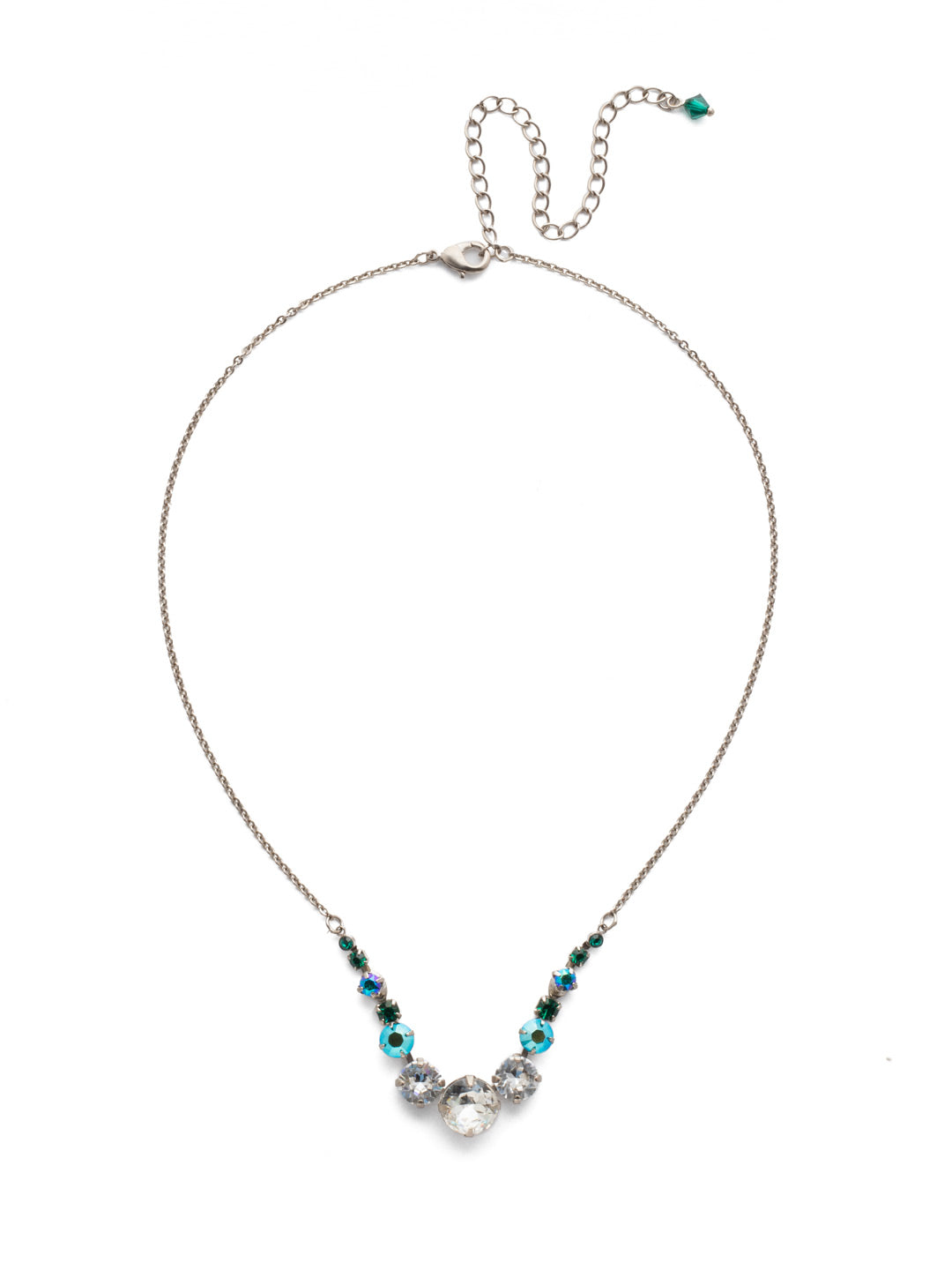 Delicate Round Tennis Necklace - NCQ14ASSNM