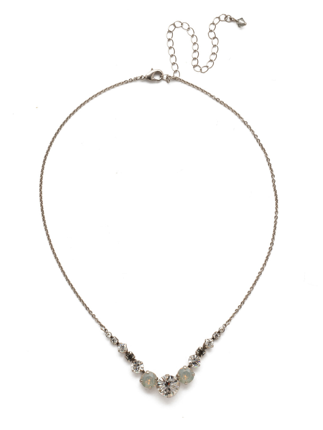 Delicate Round Tennis Necklace - NCQ14ASSTC