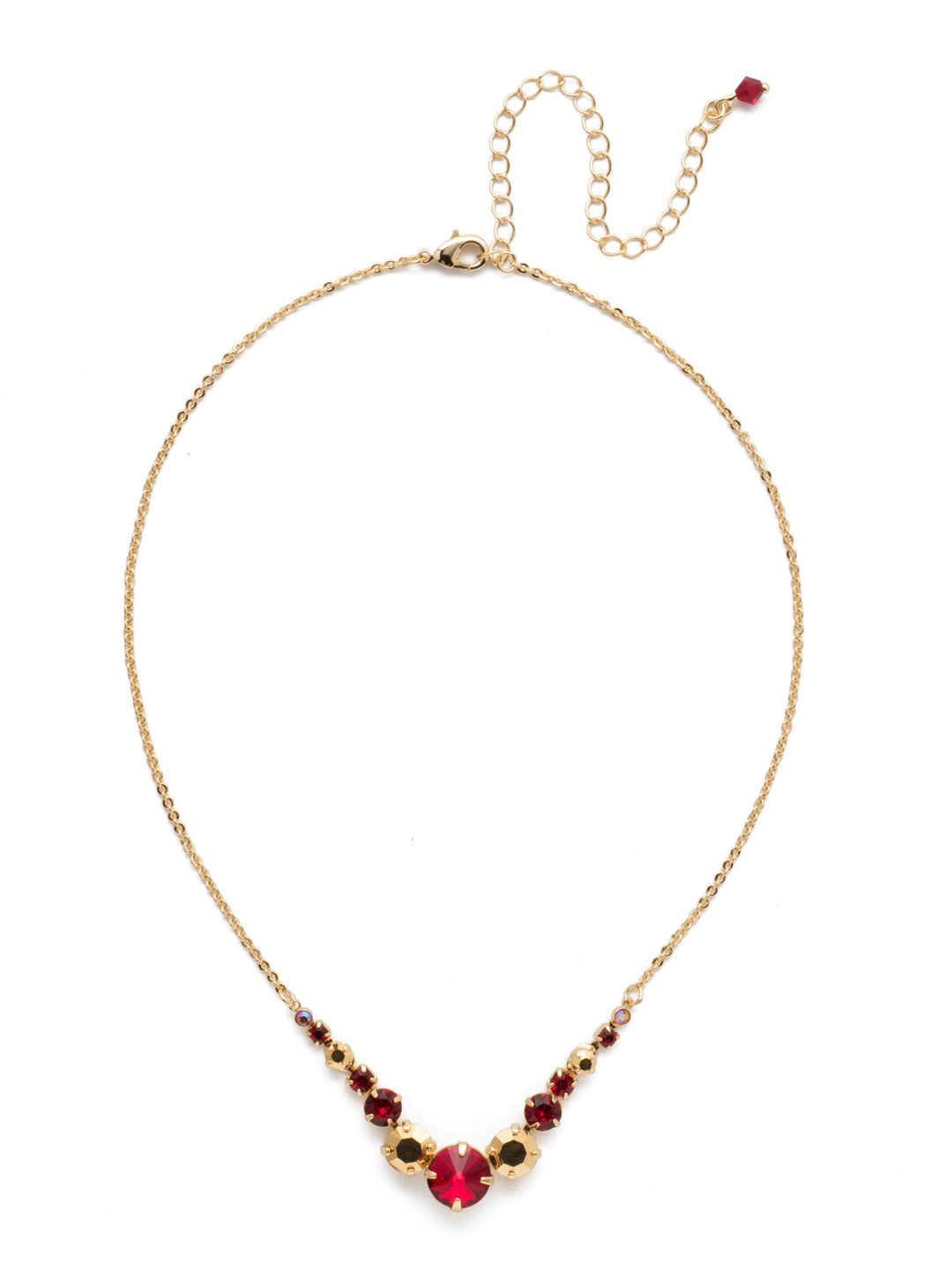 Delicate Round Tennis Necklace - NCQ14BGGGA