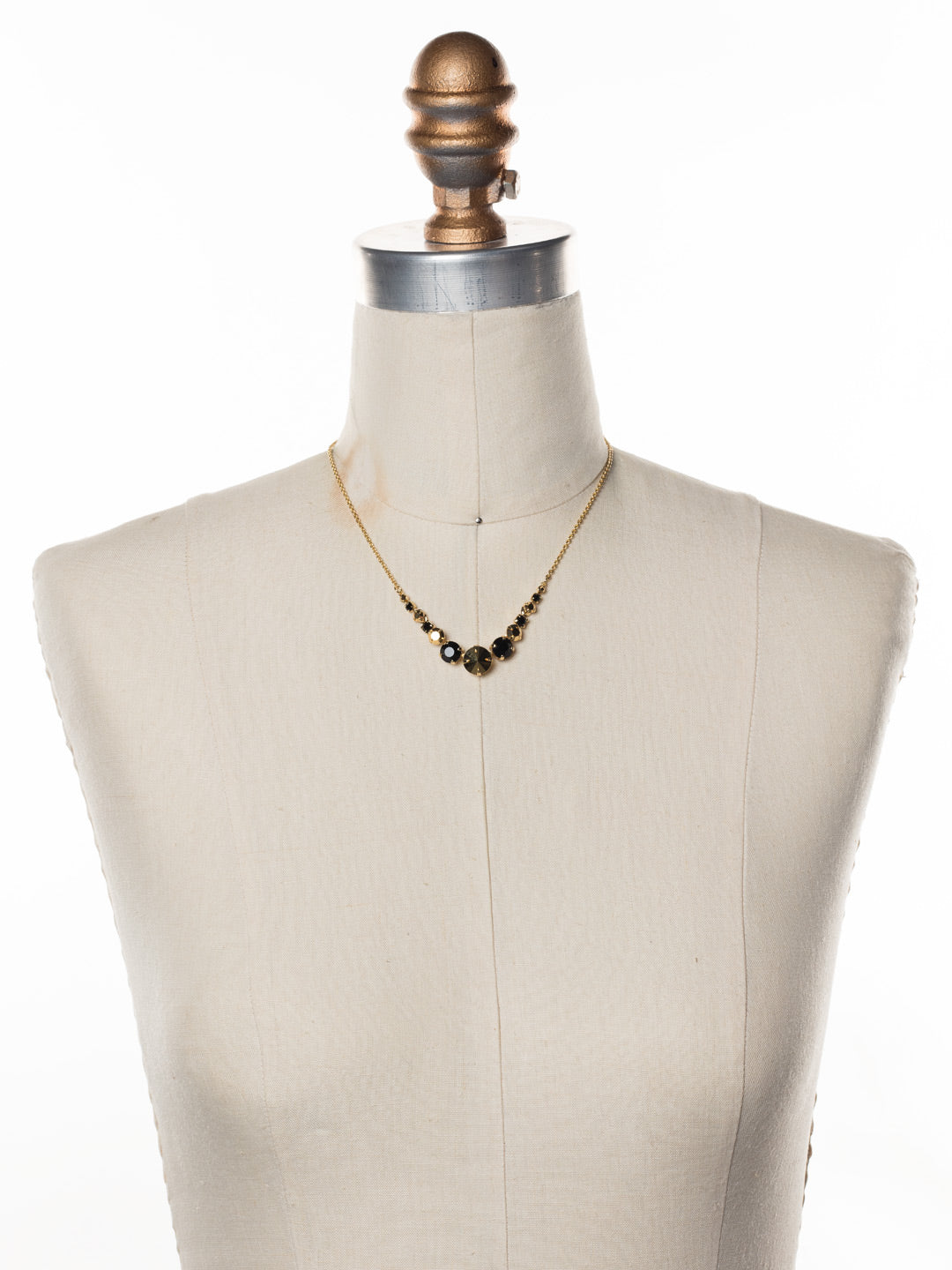 Delicate Round Tennis Necklace - NCQ14BGGTR
