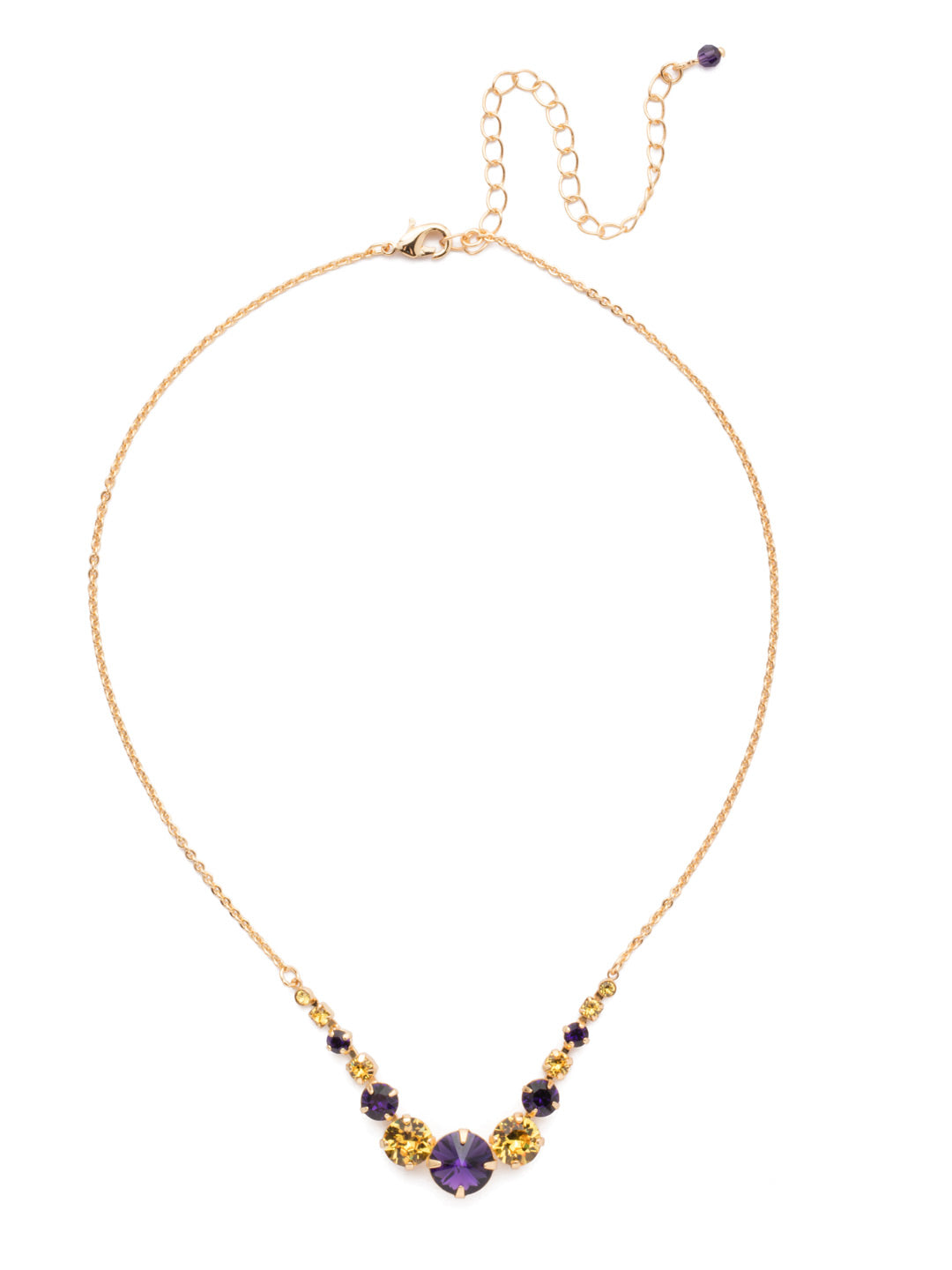 Delicate Round Tennis Necklace - NCQ14BGLPU