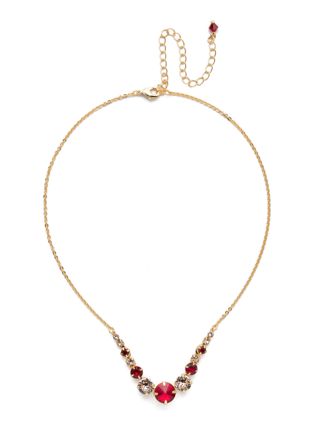 Delicate Round Tennis Necklace - NCQ14BGSRC