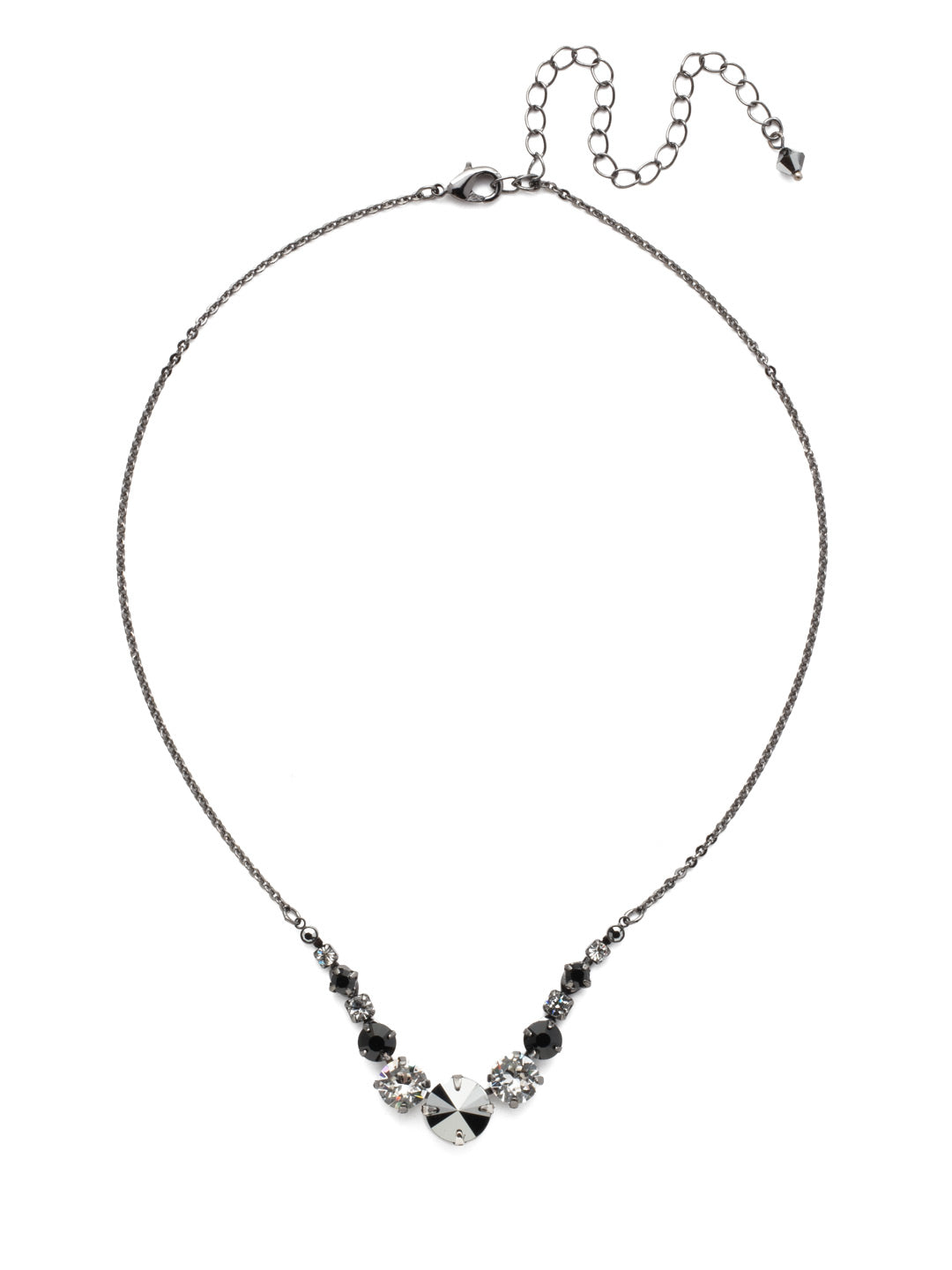 Delicate Round Tennis Necklace - NCQ14GMMMO