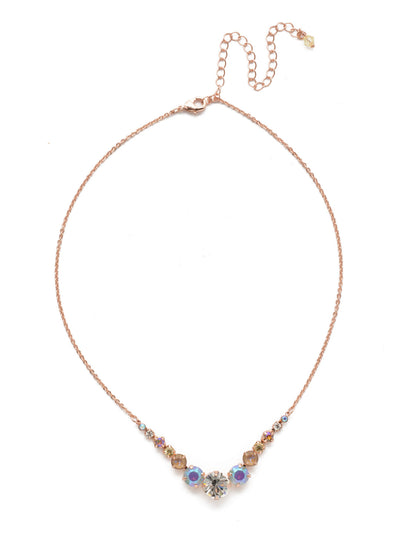 Delicate Round Tennis Necklace - NCQ14RGROG