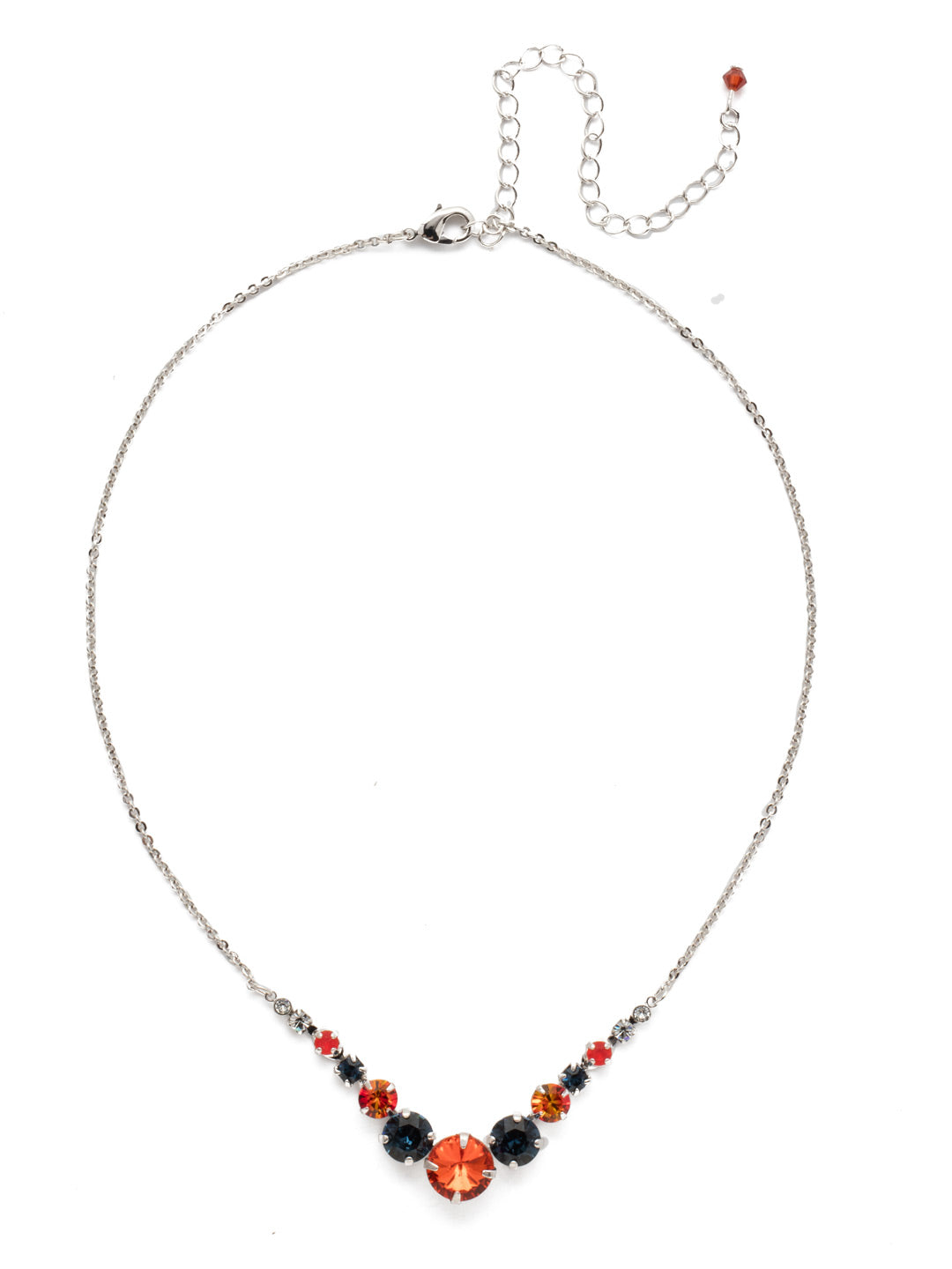 Delicate Round Tennis Necklace - NCQ14RHBTB