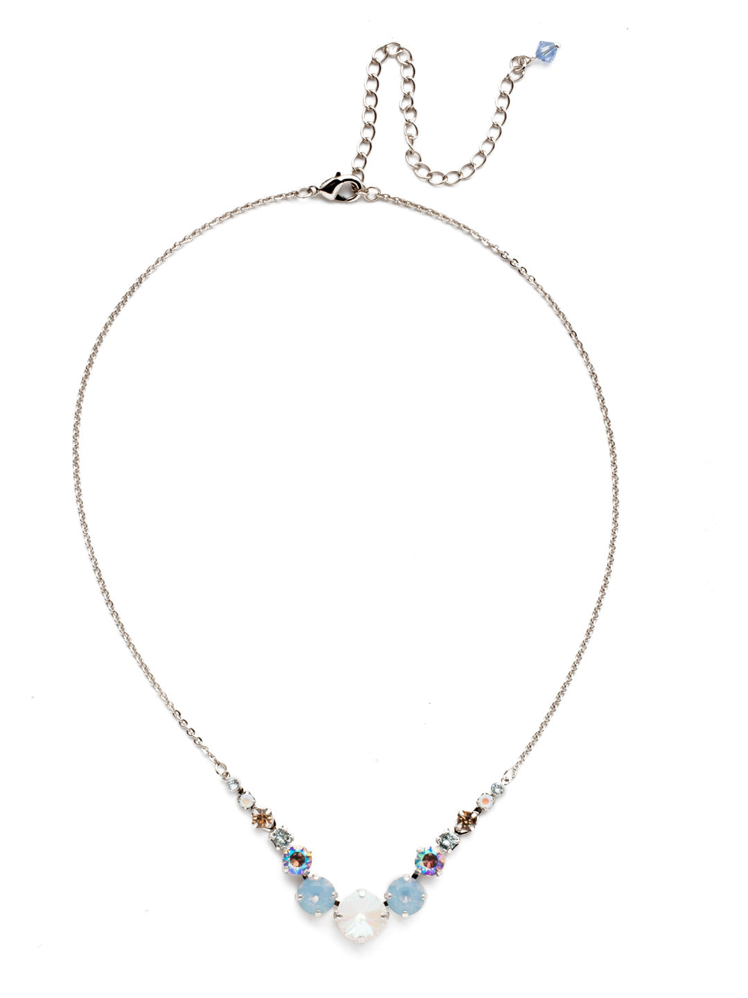 Delicate Round Tennis Necklace - NCQ14RHNTB